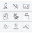 Microwave oven coffee and blender icons vector image