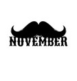 moustaches clipart black isolated silhouette and vector image vector image