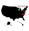 on a white background north carolina state in the vector image vector image