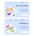 order meal online food fast delivery app vector image