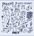 party cool fun nice poster vector image
