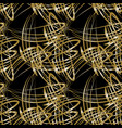 pattern of gold lines for decoration vector image