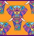 pattern with mandala and elephant geometric vector image