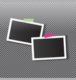 photo frame template for your photos vector image vector image