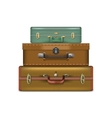 Realistic suitcases isolated on white background vector image vector image