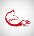 red fox logo isolated vector image vector image