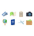 rest and travel icons in set collection for design vector image vector image