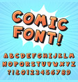 retro comic book font super hero comics letters vector image
