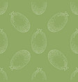 seamless pattern with whole feijoa vector image vector image