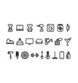 set icons for a store different goods black and vector image vector image
