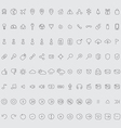 set icons hand-drawn effect vector image vector image