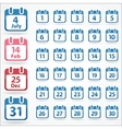 set of calendar icons for every day vector image vector image