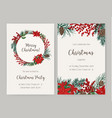 set of christmas flyer or party invitation vector image