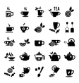 Set of tea icons vector image