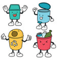 set recycle garbage vector image