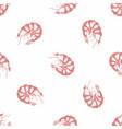 shrimp hand drawing seamless pattern vector image