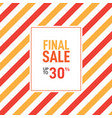 simple sale banner and poster design for sale vector image vector image