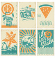 summer vacation poster flyer or pamphlets collect vector image vector image