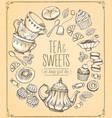 tea ceremony llustration tea time tea and set vector image vector image