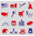 United states of america country theme stickers