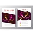 Valentines day backgrounds with abstract vector image