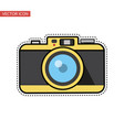 vintage camera flat design sticker vector image vector image