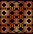 vintage ornamental golden seamless pattern luxury vector image