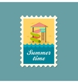 Water Park Summer Vacation Slide Beach stamp vector image vector image