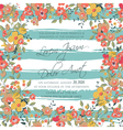 wedding invitation flowers and stripes vector image vector image