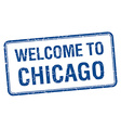 welcome to Chicago blue grunge square stamp vector image vector image
