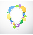 White cloud speech bubble balloon vector image vector image