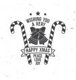 Wishing you very happy Xmas Typography design vector image