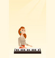 woman playing the piano vector image