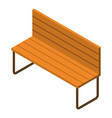 wood park bench icon isometric style vector image vector image