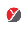 y letter logo template icon design vector image