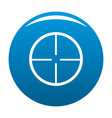 aim icon blue vector image