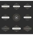 Royal Logos Design Templates Set Flourish vector image