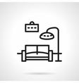 Black line living room icon vector image
