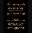 vintage gold vignettes vector image