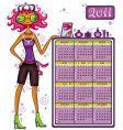 2011 fashion calendar vector image vector image