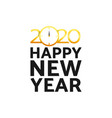 2020 happy new year happy new year card for 2020 vector image