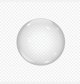 3d glass sphere isolated on transparent vector image