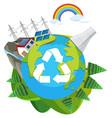 a nature green engery logo vector image