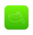 Barbecue brush icon green