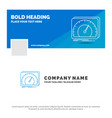 blue business logo template for dashboard device vector image