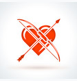 bow with arrow st valentines day design element vector image