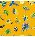 Brazil seamless pattern with sticker objects and vector image vector image