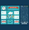 business flat design infographic template vector image vector image