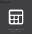 calculator premium icon white on dark background vector image vector image