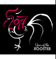 Chinese new year 2017 rooster paint abstract art vector image